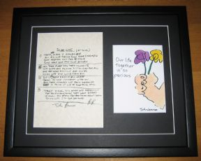THE BEATLES JOHN LENNON - IN MY LIFE HAND WRITTEN LYRICS - OUR LIFE TOGETHER PRINT